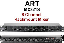 ART MX821S Live Studio 8 Channel Rackmount Mixer $5 Instant Coupon Use Promo Code: $5-Off