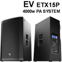 EV ETX15P 4000 Watt PA Speaker Pair $100 Instant Coupon Use Promo Code: ETX15P