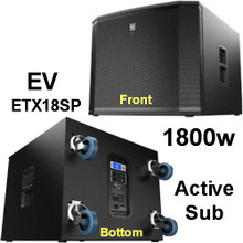 EV ETX18SP 1800 Watt Sub Woofer With Casters $100 Instant Coupon use Promo Code: $100-Off