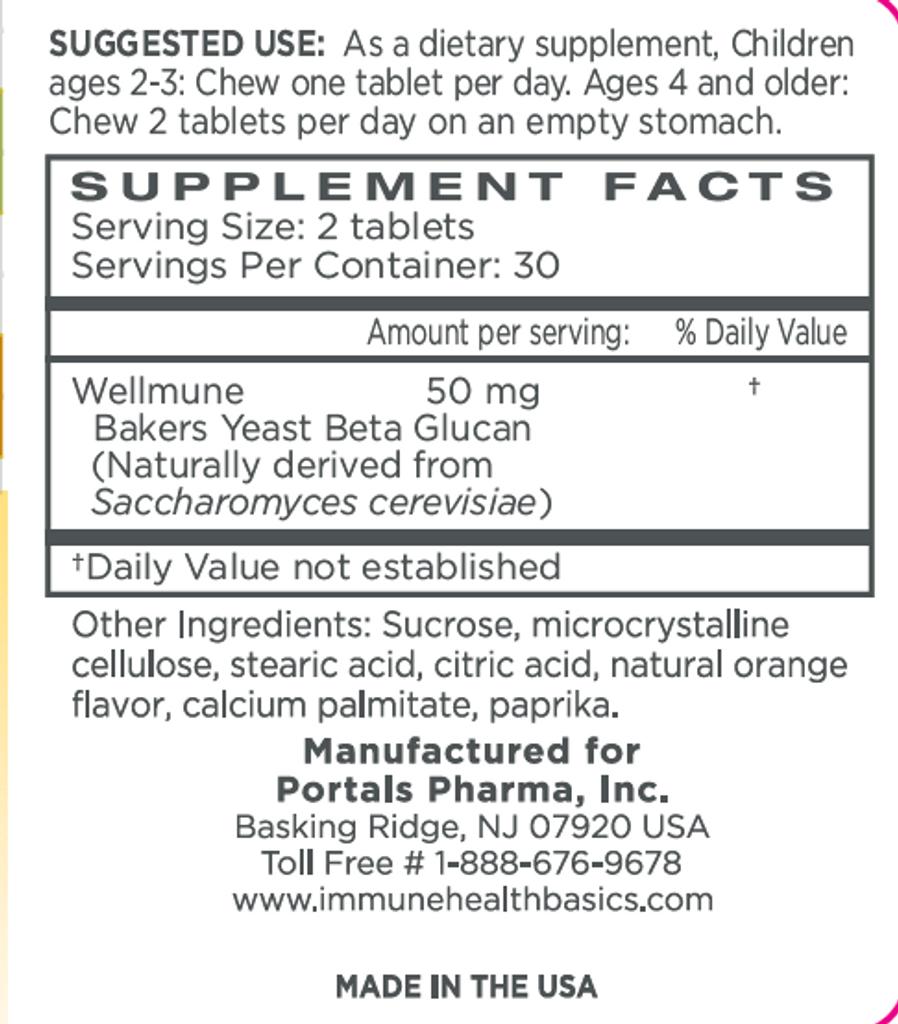 Immune Health Basics Children's Chewable 25 mg /60 Capsules