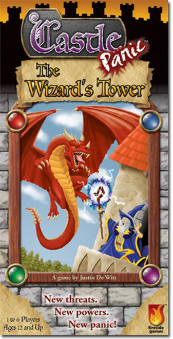 Castle Panic - EXPANSION #1 - Wizard's Tower - Co-op Board Game - Fireside Games
