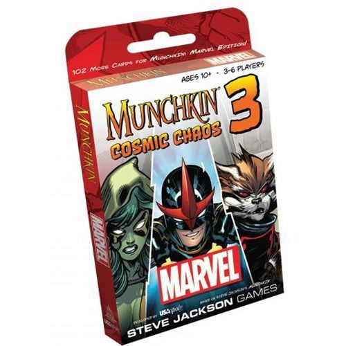 Munchkin: Marvel Edition 3 - Cosmic Chaos Card Game Expansion - Steve Jackson Games