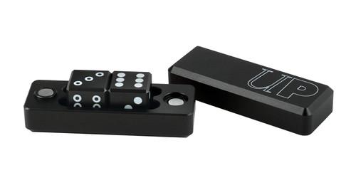 Ultra Pro - Gravity Dice - 16mm D6 Set of 2 + Case - Black Edition
