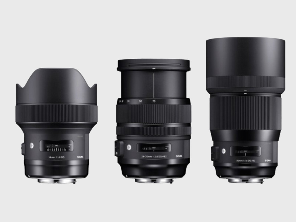 Sigma has released a trio of its high-end 'Art' lenses