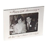 Personalized photo frame including five custom signatures and a sentiment on both top and bottom