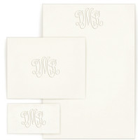 Personalized stationary wardrobe with monogram and optional return address on envelope