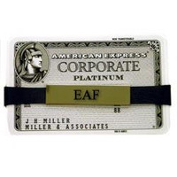 Personalized expandable money clip made of polished nickel and interchangeable rubber bands