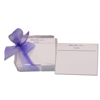 Personalized post-it note set printed with recipients name and presented in an acrylic holder