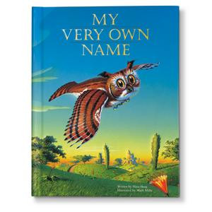 Personalized name book for children with illustrations to help them recognize letters and spell their name