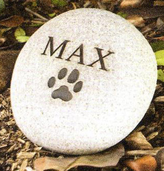 personalized garden stones to remember a pet with up to two lines of engraving - Personalized Garden Stones