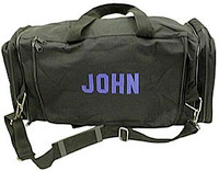 Personalized water-resistant nylon duffle bag with recipients name