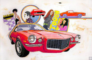 1970 Chevrolet Camaro Advertising Art Poster