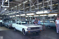 1964 Chevrolet Impala and Chevelle Assembly Line Poster
