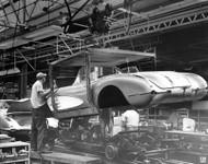 1958 Chevy Corvette Plant Poster