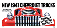 1941 Chevrolet Truck Advertisement Poster