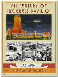 1933 Century of Progress - GM Pavilion At Night Poster II