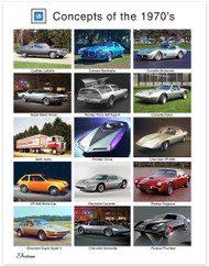 GM Concepts of the 1970's Art Poster