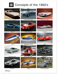 GM Concepts of the 1960's Art Poster