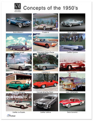 GM Concepts of the 1950's Art Poster