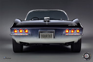 Corvette 1965 Mako Shark Rear View Personalized Poster