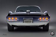 Corvette 1965 Mako Shark Rear View Personalized Poster