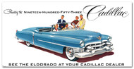 Cadillac Vintage 1953 Metal Sign
