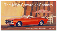 Camaro Vintage 1967 Metal Sign