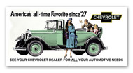 Chevrolet Vintage 1929 Metal Sign
