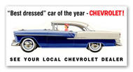 Chevrolet Vintage 1955 Metal Sign