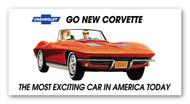 Corvette Vintage 1963 Metal Sign