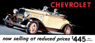 Chevrolet Vintage 1932 Metal Sign