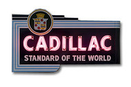 Cadillac Dealer Neon Sign