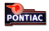 Pontiac Vintage Dealer Neon Sign