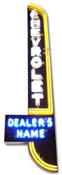 Chevrolet Vertical Personalized Dealer Neon Sign