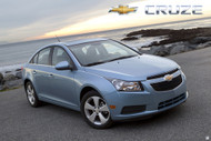 2011 Chevrolet Cruze at the Beach Poster