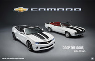 2011 and 1969 Chevrolet Camaro Convertibles Poster