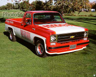 1978 Chevy Fleetside Indy 500 Pickup Poster