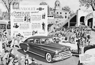 1950 Chevrolet Deluxe Fleetline Sedan Poster