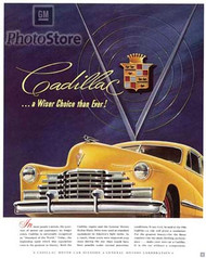 Cadillac 1946 Advertisement Poster