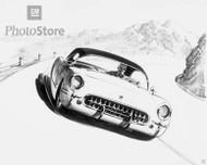 1954-55 Chevrolet Corvette Roadster Poster