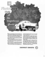 1955 Chevrolet Corvette Roadster Ad Poster
