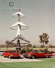 1960 Chevrolet Corvair and Impala Models Poster