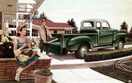 1954 GMC Stepside Pickup Truck Artwork Poster
