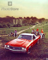 1972 Chevrolet El Camino SS Sedan Pickup II Poster