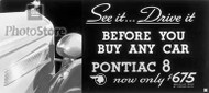1934 Pontiac Eight Advertisement Poster