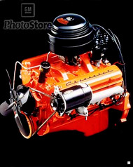 1955 Chevrolet V8 Engine (Restored) Poster