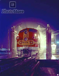 1950 EMD F7A Diesel Electric Locomotive Poster