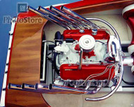 1965 Chevrolet Marine V8 Engine Poster