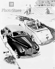 1940 Buick 4-Door Sedan Models Artwork Poster