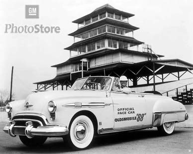 1949 oldsmobile 88 convertible pace car poster gmphotostore. Black Bedroom Furniture Sets. Home Design Ideas